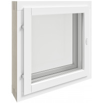 Puualumiini-ikkuna MSE, 2+1, 6x6