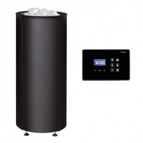 Sähkökiuas Tulikivi Sumu 68 E, teräsverhoilu, 6.8kW, 5-9m³, erillinen ohjauskeskus, musta