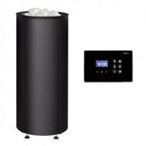 Sähkökiuas Tulikivi Sumu 105 E, teräsverhoilu, 10.5kW, 9-15m³, erillinen ohjauskeskus, musta