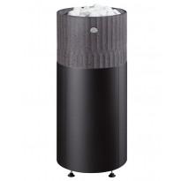 Sähkökiuas Riite 90 integroitu, 9,0kW (8-13m³), erillinen ohjauskeskus, valukivi, musta