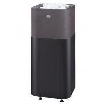 Sähkökiuas Kuura 2 105 integroitu, 10,5kW (9-15m³), erillinen ohjauskeskus, valukivi, integroitu, musta