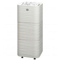 Sähkökiuas Tulikivi Huurre 105, 10.5kW, 9-15m³, valukivi, erillinen ohjauskeskus, valkoinen