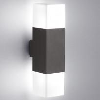 Seinävalaisin Hudson, sis. 2x4W LED, IP44, musta