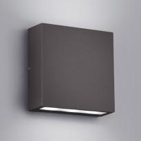 Seinävalaisin Thames, LED 2x3W, IP54, musta