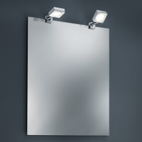 Klipsuspotti Trio 2820 2kpl, LED 2x4W, IP44, kromi/valkoinen