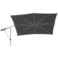 Aurinkovarjo MAY Mezzo MG, 2,6x2,6m, neliö, tummanharmaa