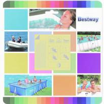 Paikkaustarrat Bestway vedenalaiseen käyttöön, 65x65mm, 10 kpl