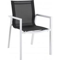 Tuoli Delia, pinottava, valkoinen/musta