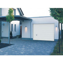 Autotallin nosto-ovi Turner 820, 3000x2125 mm, vaakaura, puukuvio, valkoinen
