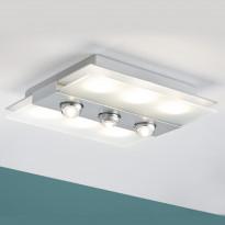 LED-plafondi Paulmann Xeta 320x320x88 mm mattakromi himmennettävä