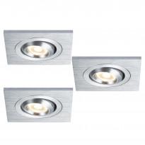 Upotettava LED set Premium Line Square 92524, 3x3W, IP23, käännettävä