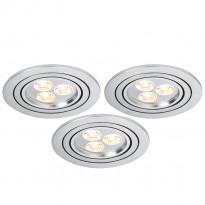 Uppovalaisin Premium Line Aria LED 92530, 3x3W, käännettävä, harjattu teräs