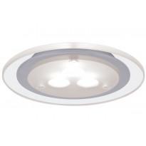 Upotettava LED-kalustevalaisin Micro Line High Power, 93549, 1x3W, mattakromi/läpikuultava