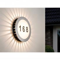 Numerovalaisin LED 93769, 1x5,6W, IP44, harjattu teräs/valkoinen