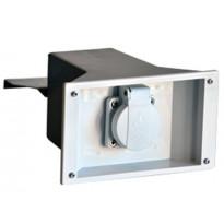 Vallipistorasia 160x98x190mm, harmaa/musta, 1-osainen, IP44