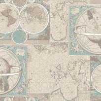 Kuitutapetti Kartta, 4979-1 , 0,53 x 11,2m (5,9m²)