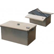 Savustuslaatikko puukannella, 45x21x26cm