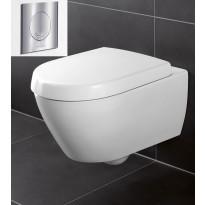Seinä-WC -paketti Subway 2.0 Ceramicplus, täydellinen, V&B -kromipainike