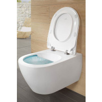 Seinä-WC paketti Subway 2.0 DirectFlush, V&B kromipainike, Soft close -kansi