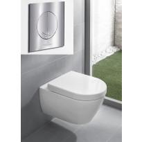 Seinä-WC -paketti Subway 2.0 DirectFlush Ceramicplus, täydellinen, V&B -kromipainike, Verkkokaupan poistotuote