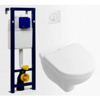 Seinä-WC -paketti Villeroy & Boch O.Novo Compact DirectFlush Soft Close -kannella, Verkkokaupan poistotuote
