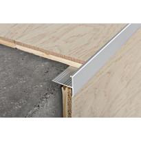 Porraskulmalista Progress Profiles Protermstep ALL, 12,5mm, 2,7m, anodisoitu alumiini