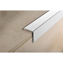 Porraskulmalista Progress Profiles Prowalk, tarrakiinnitys, 30x30mm, 0,9m, anodisoitu hopea