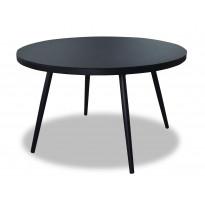 Pöytä Vipex Home A003, halkaisija 125 cm, musta