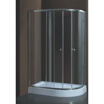Suihkunurkkaus Harma DN020 + Suihkuallas, 120 x 85 x 195 cm, kirkas lasi, vasenkätinen, Verkkokaupan poistotuote