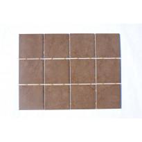 Keraaminen laatta Bien Ground Dot 10x10, lattialaatta, suklaa