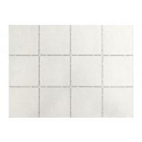 Keraaminen laatta Bien Tundra Dot 10x10, lattialaatta, valkoinen