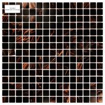 Lasimosaiikki Night Sky, 32,7x32,7, seinä-/lattialaatta