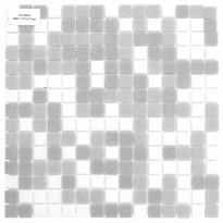 Lasimosaiikki Mix, 32,7x32,7, seinä-/lattialaatta, harmaa