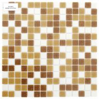 Lasimosaiikki Mix, 32,7x32,7, seinä-/lattialaatta, beige