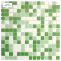 Lasimosaiikki Mix, 32,7x32,7, seinä-/lattialaatta, vihreä