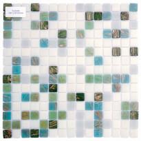 Lasimosaiikki Aqua, 32,7x32,7, seinä-/lattialaatta