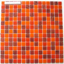 Lasimosaiikki Rosso, 32,7x32,7, seinä-/lattialaatta