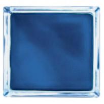 Lasitiili Vitrablok 1908/W, värillinen sisäpinta, 190x190x80mm, sininen matta