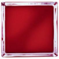 Lasitiili Vitrablok 1908/W, värillinen sisäpinta, 190x190x80mm, punainen matta