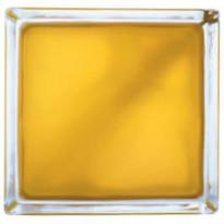 Lasitiili Vitrablok 1908/W, värillinen sisäpinta, 190x190x80mm, keltainen matta