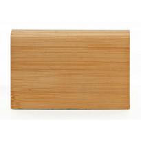 Massiivijalkalista Bambu 2000x75x13mm, tumma, horisontaalinen pintakuvio, mattalakattu