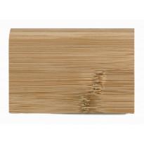 Massiivijalkalista Bambu 2000x75x13mm, tumma, horisontaalinen pintakuvio, lakattu