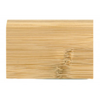 Massiivijalkalista Bambu, vaalea, horisontaalinen pintakuvio, lakattu, 6kpl