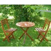 Terassiryhmä Silja (pöytä+2 tuolia) ruskea