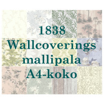 1838 Wallcoverings -tapetin mallipala koko A4