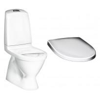 WC-istuin Gustavsberg Nautic 1500, Hygienic Flush kaksoishuuhtelu piilo S-lukko, + istuinkansi Nautic 9M26, valkoinen