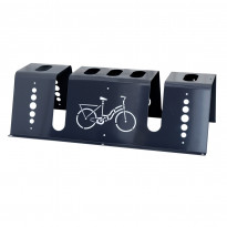 Wixu pyöräteline kulmikas, 2 pyörää, musta