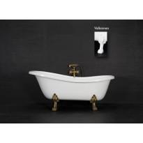 Kylpyamme Victoria 167, 230l, 1670x750mm, valkoinen, valkoiset jalat