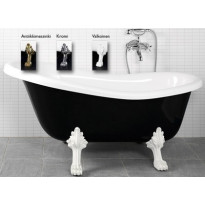 Kylpyamme Victoria 157, 215l, 1570x760mm, musta/valkoinen, eri jalkavaihtoehtoja WTB2000069X