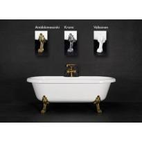 Kylpyamme Elisabeth, 230l, 1750x800mm, valkoinen, eri jalkavaihtoehtoja